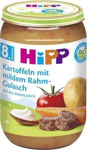 HiPP              Bio Menü Kartoffeln mit mildem Rahm-Gulasch
