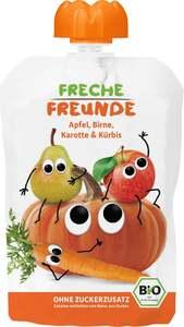 erdbär              Bio Freche Freunde 100% Apfel, Birne, Karotte & Kürbis
