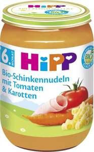 HiPP              Bio Menü Bio-Schinkennudeln mit Tomaten & Karotten