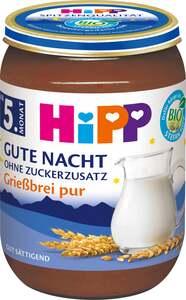 """HiPP              Bio Gute Nacht """"Grießbrei pur"""""""