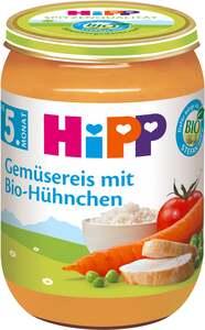 HiPP              Bio Menü Gemüsereis mit Bio-Hühnchen