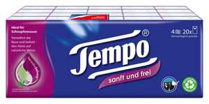 """Tempo              Taschentücher """"sanft & frei"""""""