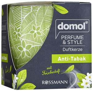 "domol              Duftkerze Perfume & Style ""Anti-Tabak"""