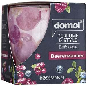 """domol              Duftkerze Perfume & Style """"Beerenzauber"""""""