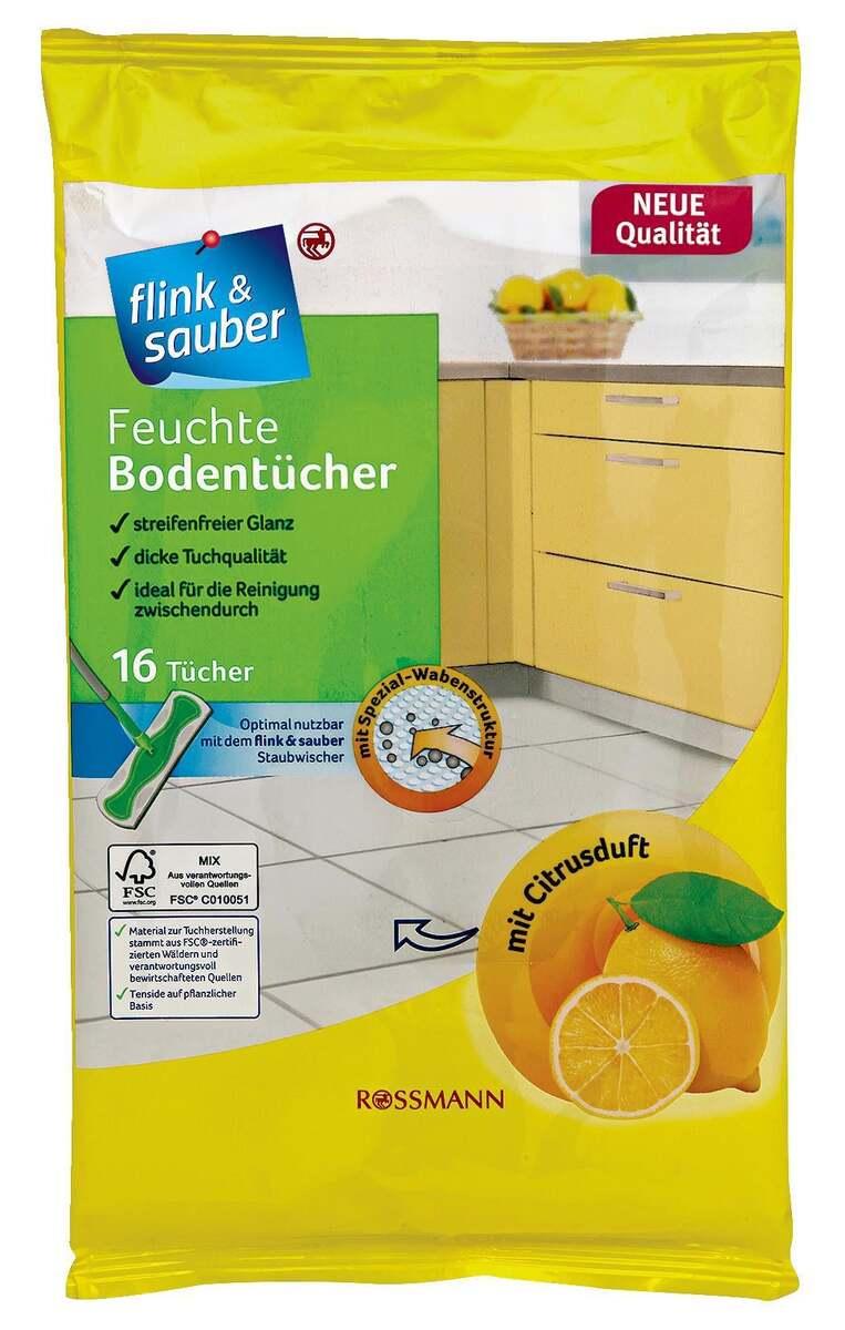 Bild 1 von flink & sauber              feuchte Bodentücher