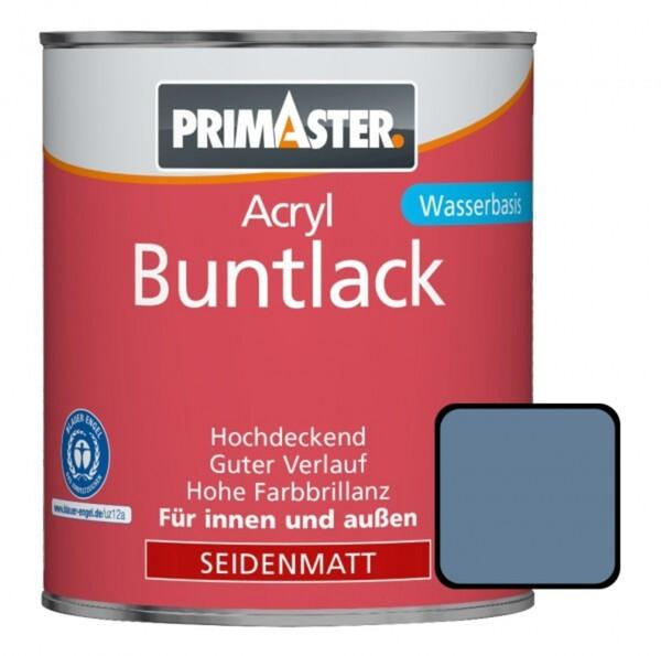 Primaster Acryl Buntlack taubenblau seidenmatt, 750 ml