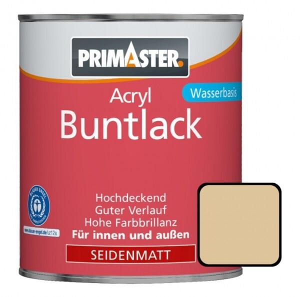 Primaster Acryl Buntlack hellelfenbein seidenmatt, 750 ml