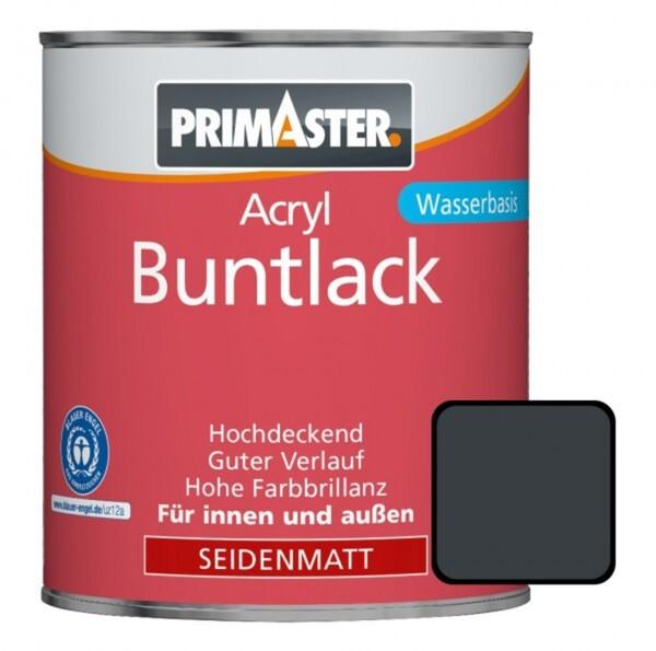 Primaster Acryl Buntlack anthrazit seidenmatt, 750 ml
