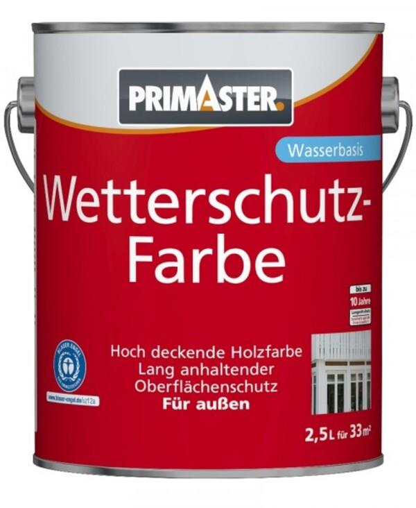 Primaster Wetterschutzfarbe 2,5 l, weiss