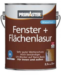 Primaster Fenster- und Flächenlasur   2,5 l, palisander