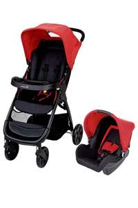 """Safety 1st              Buggy Amble Travelsystem """"Plain Red"""""""