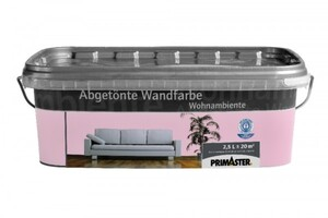 Primaster Wandfarbe Wohnambiente  wildrose, 2,5 l