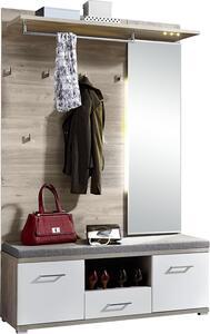 Garderobe Plus in Weiß/Silbereiche