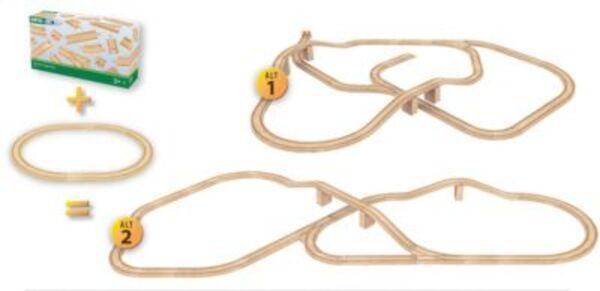 BRIO 33772 Großes Schienensortiment 50 Teile