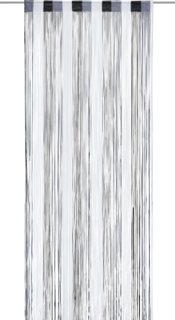 Fadenstore String in Anthrazit/schwarz