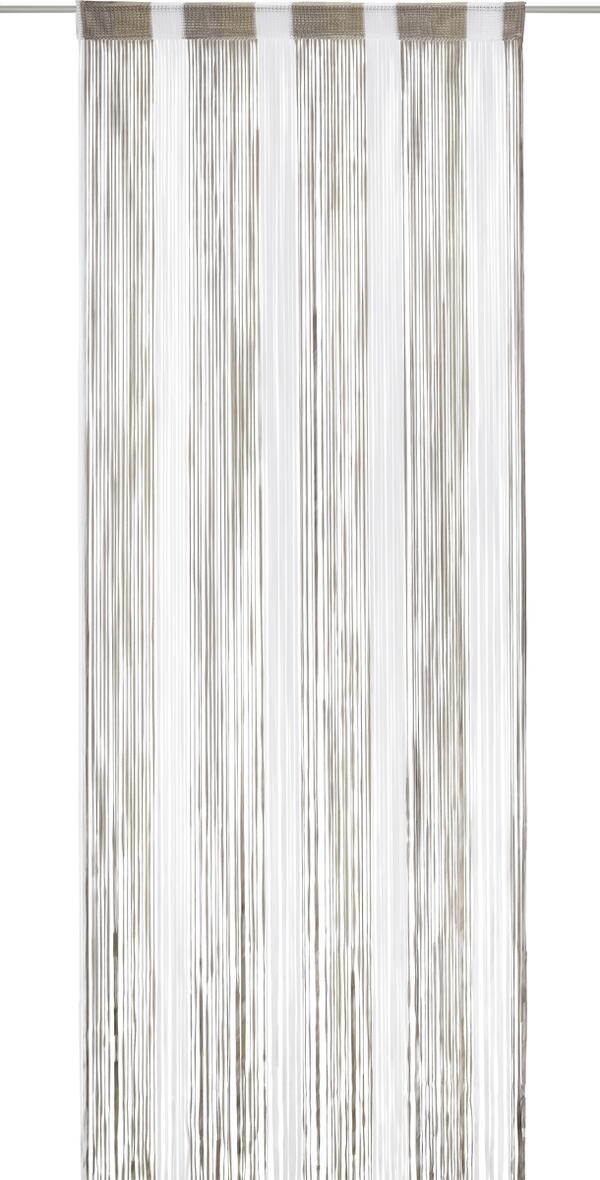 Fadenstore String in Braun/stein/weiß