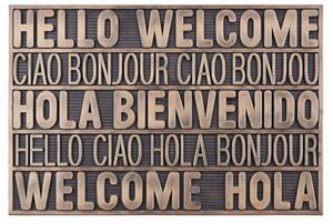 Fußmatte International Welcome