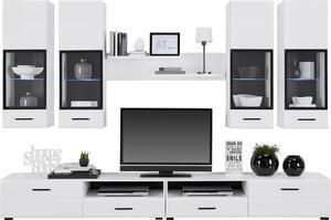 Wohnwand in Weiß