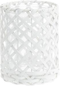 Windlicht Antonia in Weiß aus Glas/holz