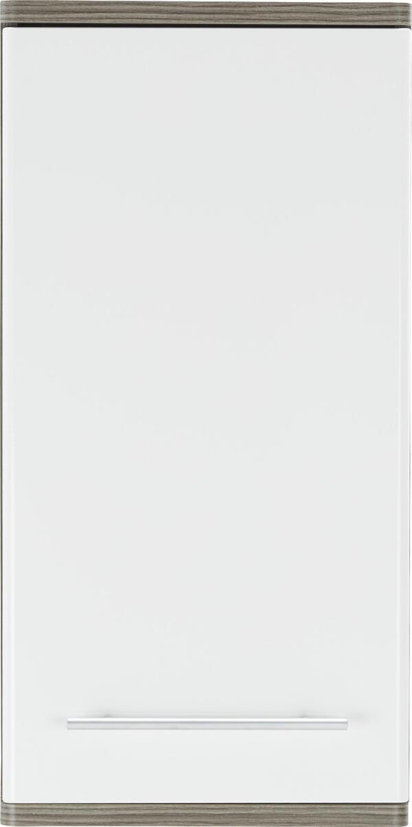 Oberschrank in Braun/Weiß