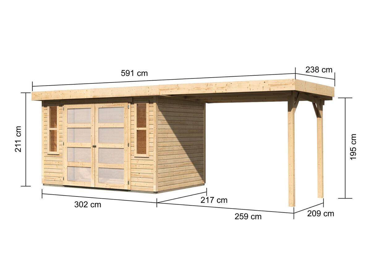 Bild 2 von Karibu Gartenhaus Trundholm 2