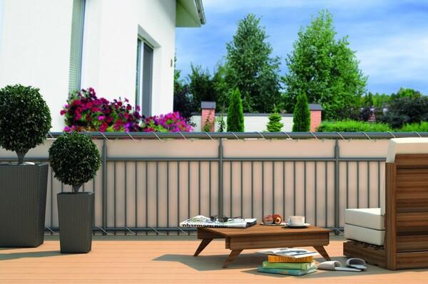 Home&Garden Balkonsichtschutz in creme