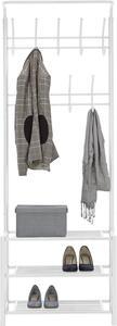 Garderobenständer in Weiß aus Metall