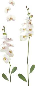 Dekosticker Orchidee in Weiß