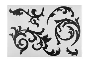 Dekosticker Ornamentranke in Schwarz