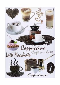 Dekosticker Kaffee in Braun