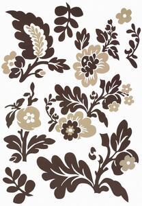 Dekosticker Blumen in Braun/Beige