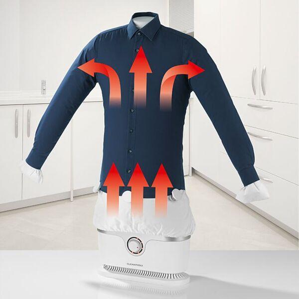 CLEANmaxx Bügler silber/weiß für Hemden & Blusen