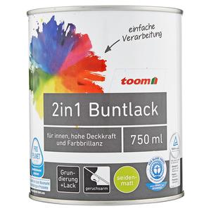 2in1 Buntlack seidenmatt reinweiss 0,75L toom