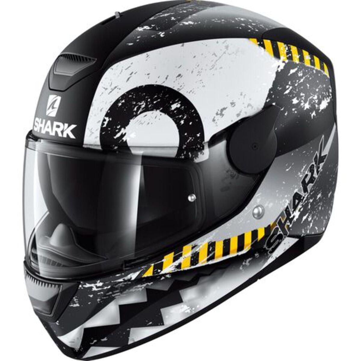 Bild 1 von Shark helmets            D-SKWAL Saurus Schwarz/Weiß/Grau Matt