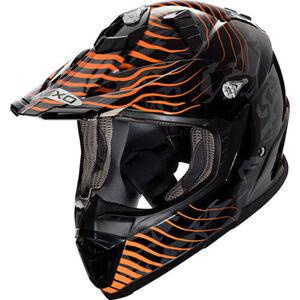 Nexo            MX-Line Fiberglas Crosshelm orange Dekor