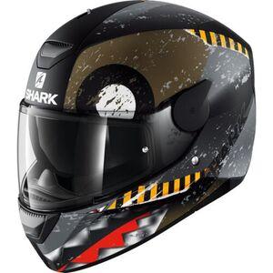 Shark helmets            D-SKWAL Saurus Schwarz/Grau Matt