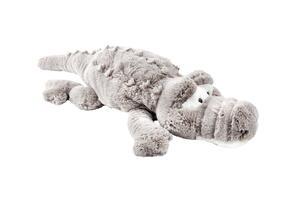 Plüschtier Krokodil in Creme/taupe