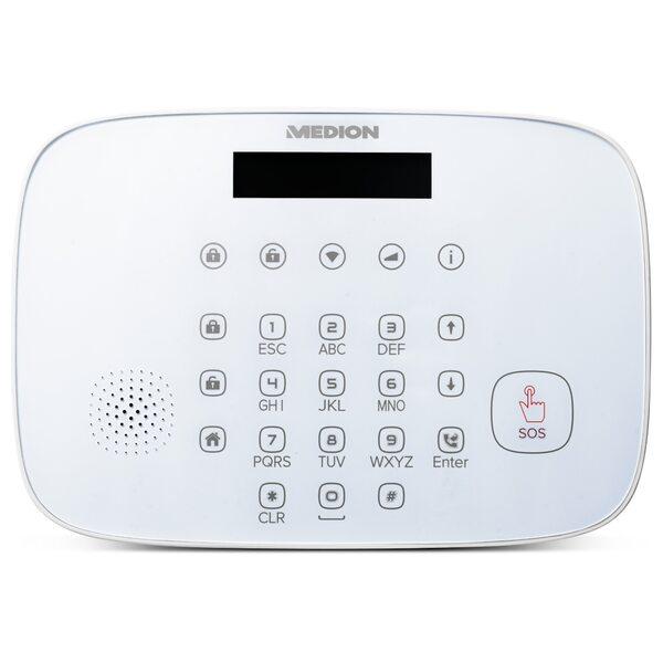 MEDION Alarmsystem Zentrale P85731, Smart Home, Zuverlässige Sicherheit im Haus, Echtzeit Benachrichtigung, Datentransfer via Mobilfunk & WLAN (weiß)
