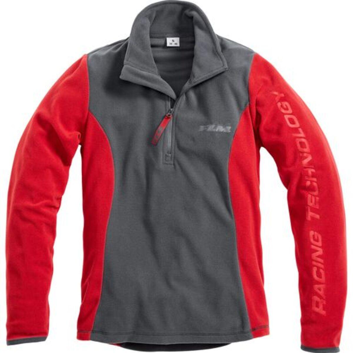 Bild 1 von FLM            Damen Fleeceshirt 2.0 grau/rot