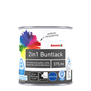 toom - toom 2in1 Buntlack glänzend Mint 0,375L