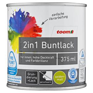 toom - 2in1 Buntlack seidenmatt anthrazit 0,375L toom
