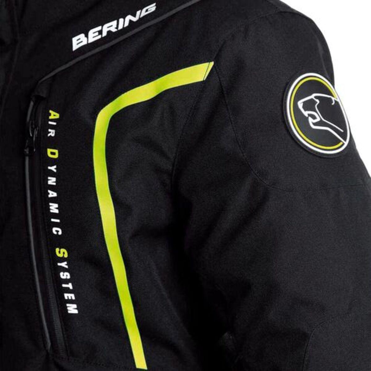 Bild 2 von Bering            Ralf Textil Motorradjacke schwarz/gelb