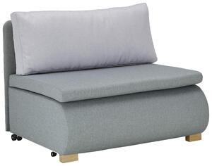 Schlafsessel in Grau/mint, ca. 100x193cm