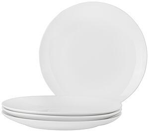 Speiseteller Billy in Weiß, 4 Stück