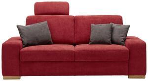 Dreisitzer-Sofa Rot
