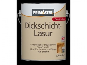 Primaster Dickschichtlasur ,  ebenholz, 2,5 l, lösemittelhaltig