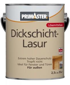 Primaster Dickschichtlasur ,  mahagoni, 2,5 l, lösemittelhaltig