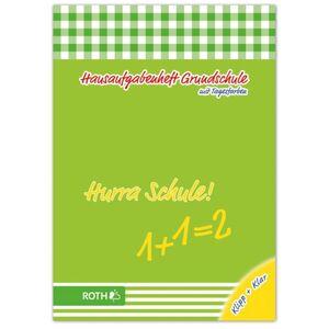 Grundschulaufgabenheft Hurra mit Schutzumschlag - DIN A5