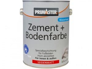 Primaster Zement + Bodenfarbe ,  kupferbraun seidenmatt, 2,5 l
