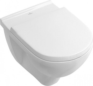 V&B Wand-Tiefspül-WC Targa ,  spülrandlos, weiss, mit WC-Sitz